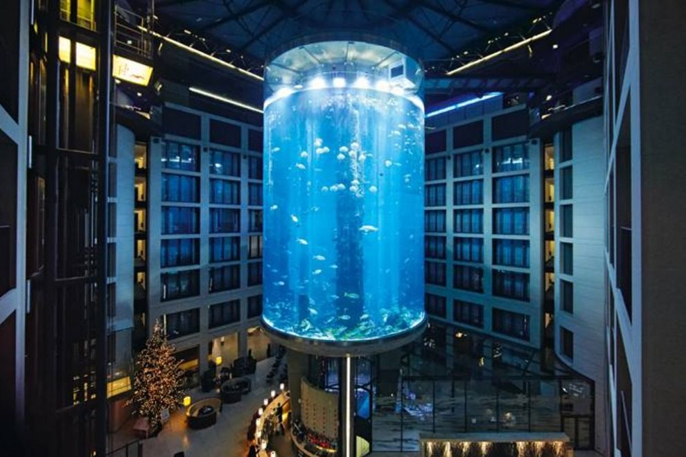Have You Seen The Massive Aquarium In A Hotel With An Elevator In The Middle