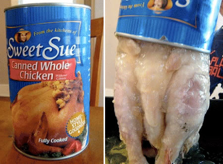A Man Takes On The Whole Canned Chicken Challenge: Possibly One Of The Most Disgusting Foods At Your Local Grocery Store