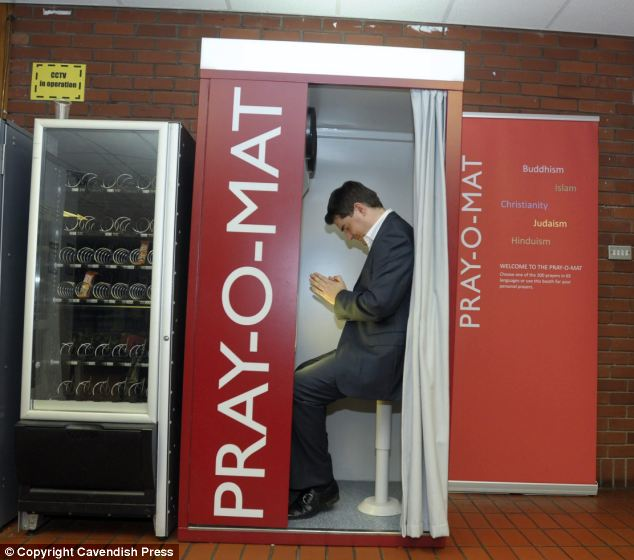 Pray-O-Mat Machine For Prayer And Worship On The Go Being Tested For Multi-Faith Spaces