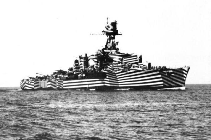 Remember When We Had Artist Start Painting Navy War Ships With Wild Abstract Colors To ConfuseGermans