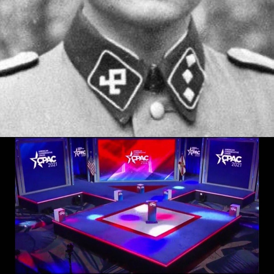 Remember In 2020 When CPAC Used A Nazi Symbol For The ConferenceStage
