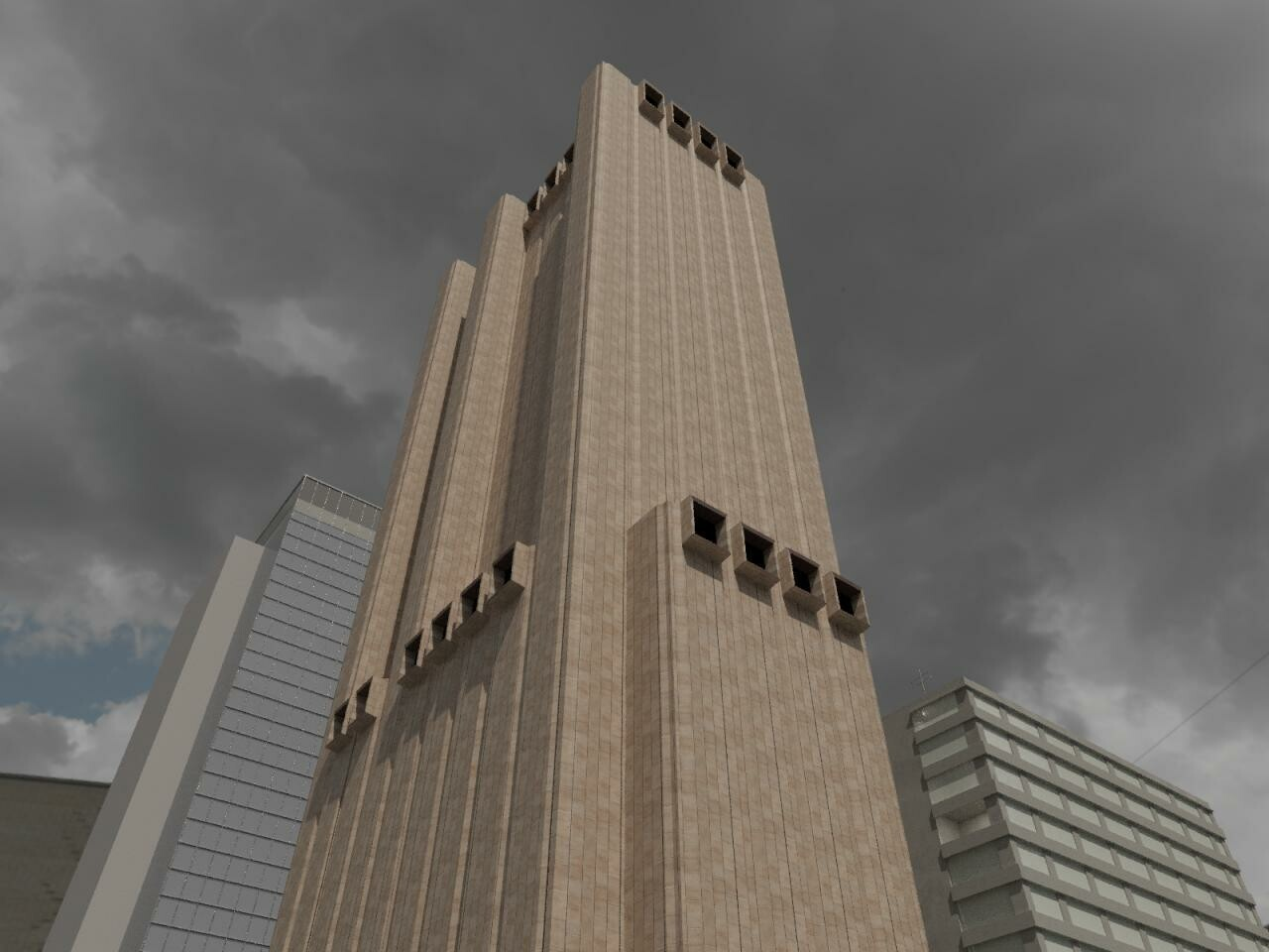 Why Is There A 30 Story Windowless Skyscraper In New York With Giant Ventilation Openings Designed To Survive NuclearFallout